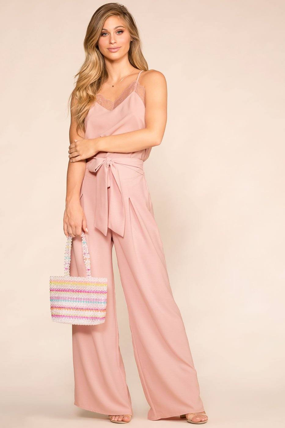 Mauve Wide Leg Loose Pants