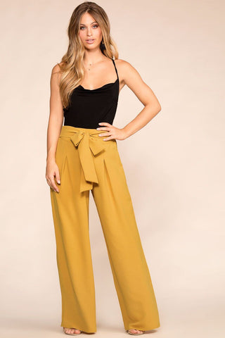 Bet On It Mauve Wide Leg Pants