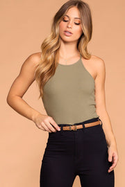 Sage Ribbed Tank Top
