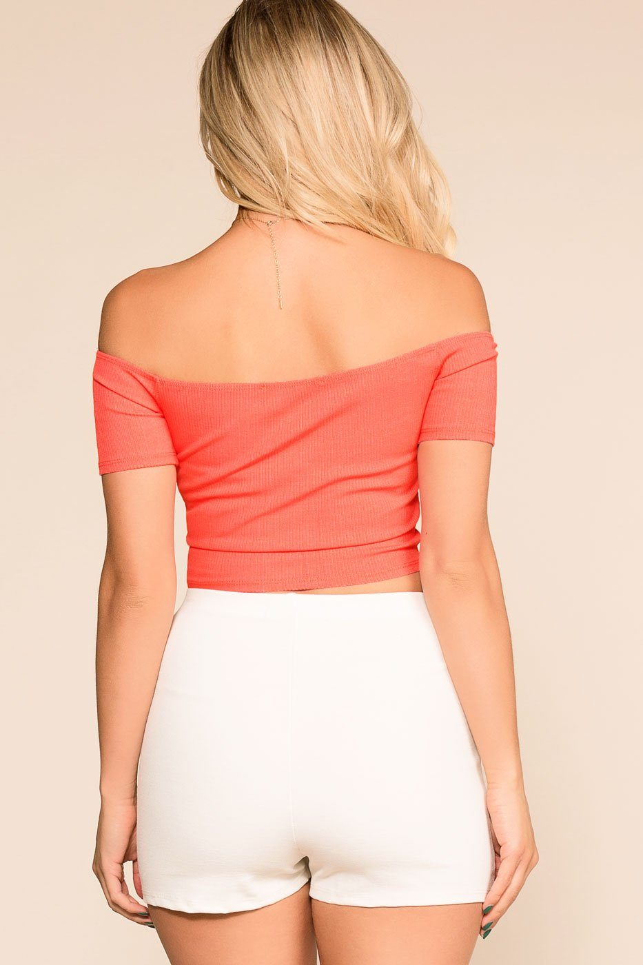 Priceless | Coral | Pink | Off The Shoulder Top | Womens
