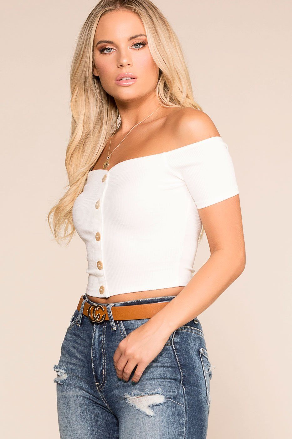 8059ee6120694a ... Priceless   White   Off The Shoulder Top   Womens ...