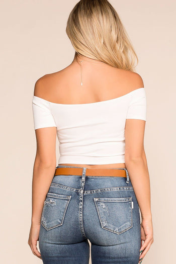 Priceless | White | Off The Shoulder Top | Womens