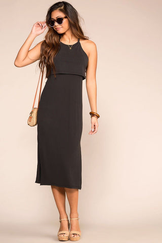 Always You Black Dotted Dress