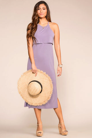 High Tide Stripe Hi-Low Maxi Dress