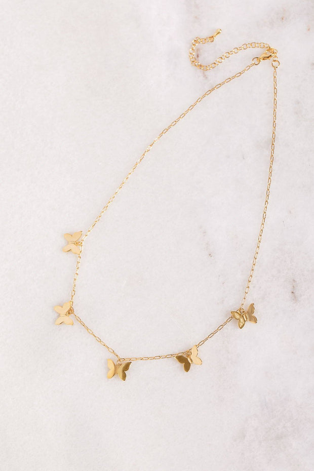 Bliss Gold Butterfly Necklace