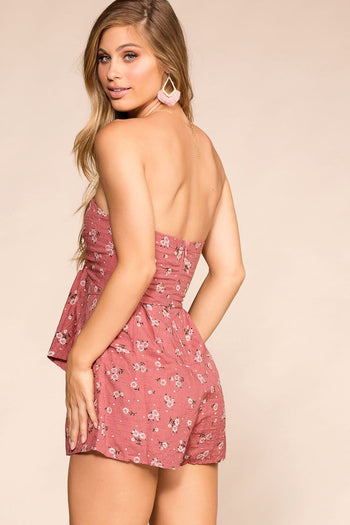 Shop Priceless | Pink | Floral | Romper | Womens