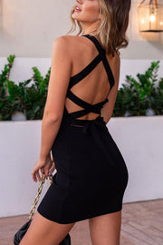 Black Tie-Back Dress