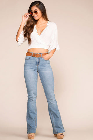 Khloe High Waisted Jeans - Indigo
