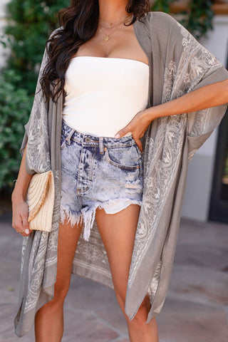 Unwind Blue Striped Tie Shorts