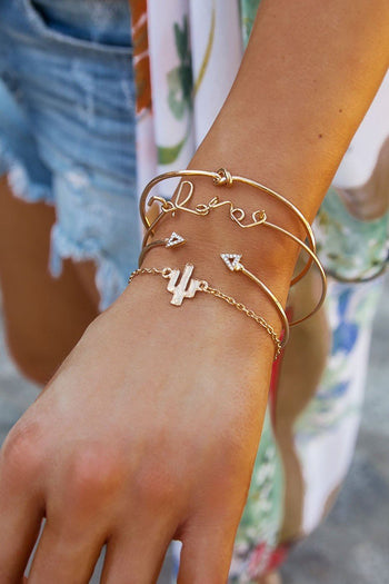 Breezy Days Gold Bracelet Set | Beautysis