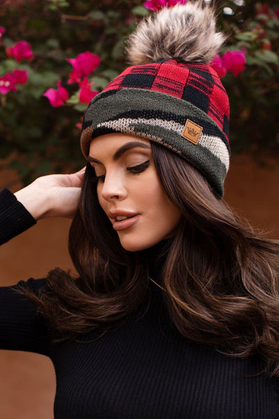 Camo and Plaid Beanie