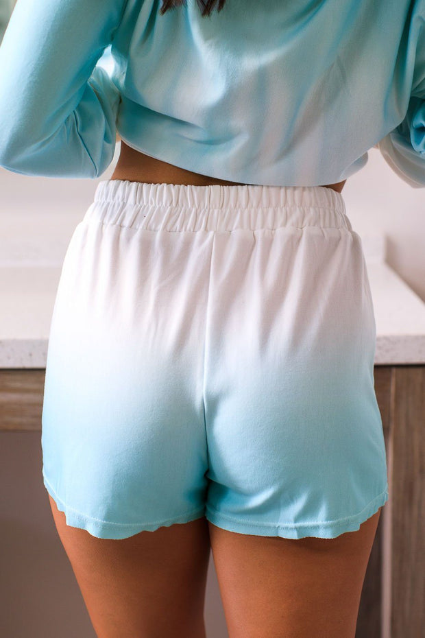 Brynn Mint Ombre Lounge Shorts