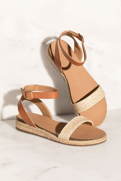 Tan Two-Tone Sandals