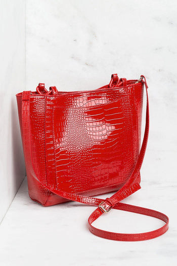 Red Chain Purse