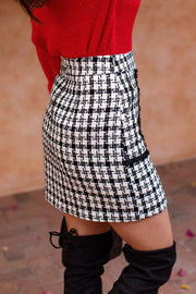 White Plaid Skirt