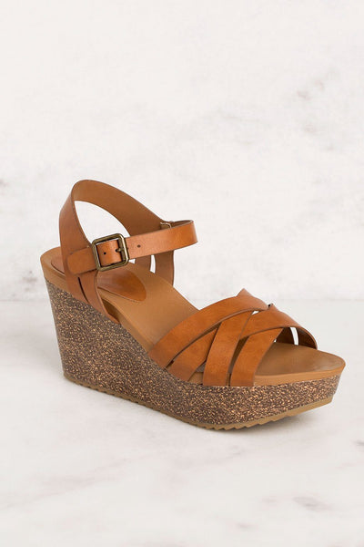 Priceless | Tan | Wedges | Shoes | Womens