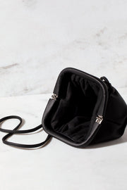 Black Clamshell Clutch Purse