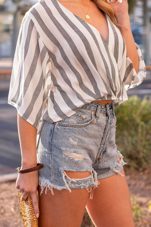 Denim Cut-Off Shorts