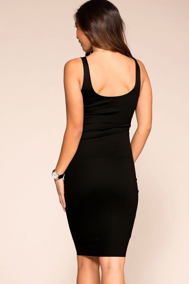 Black Midi Bodycon Dress