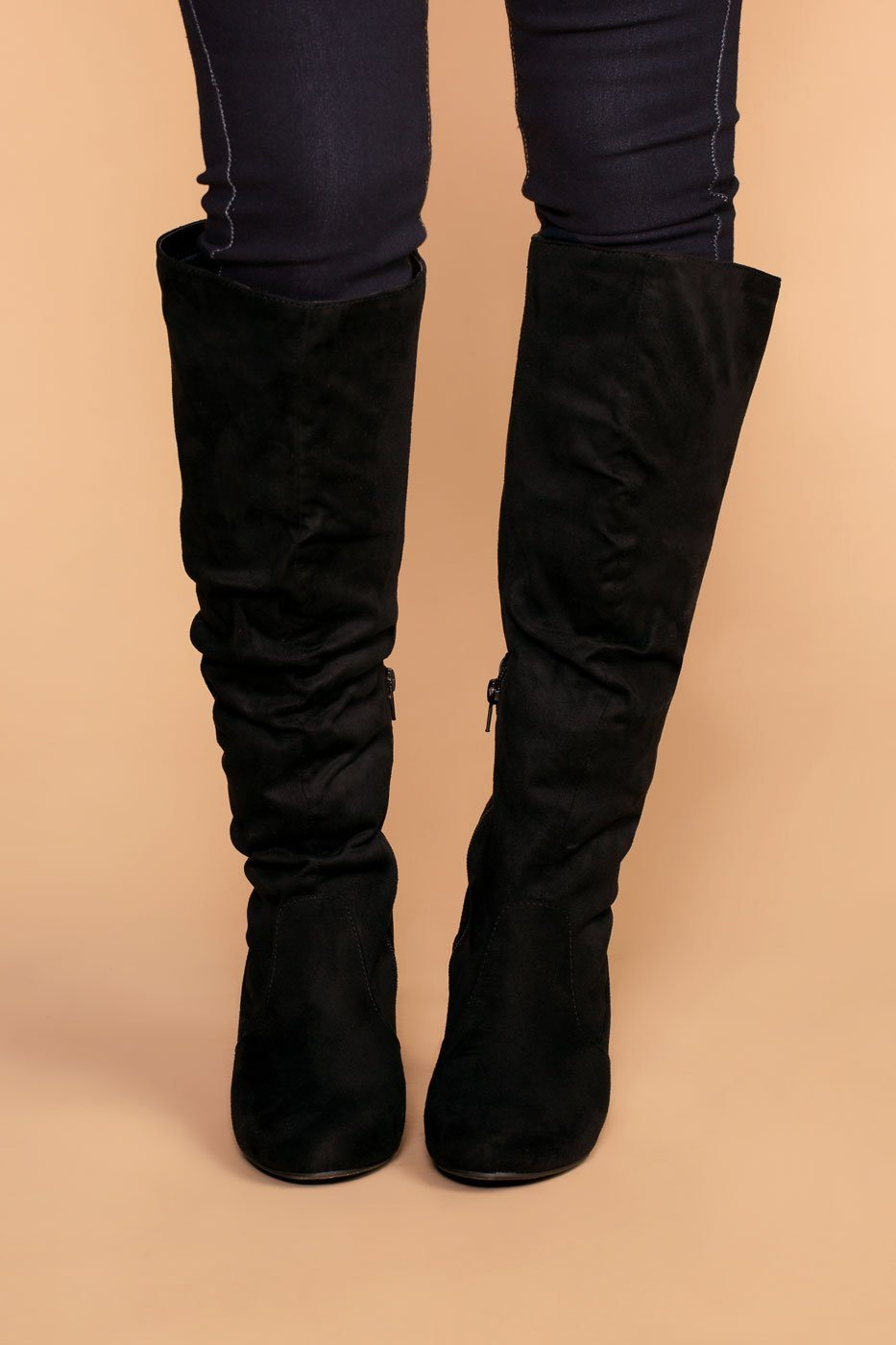 aa7f9f28c5d Cassia Black Knee High Boots
