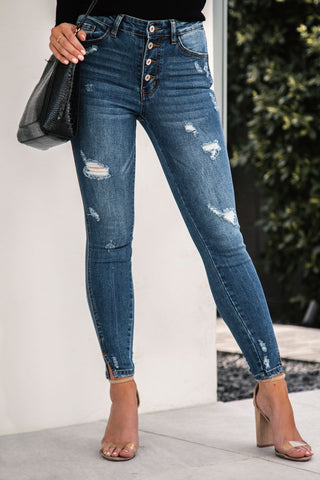 Mika High Waisted Jeans - Dark Wash