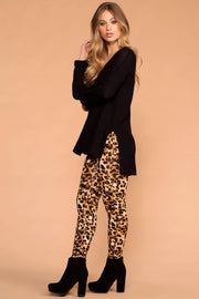 Ankle Length Leopard Leggings