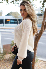 Cecilia Ivory Knit Sweater