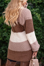 Central Park Mocha Bubble Knit Cardigan