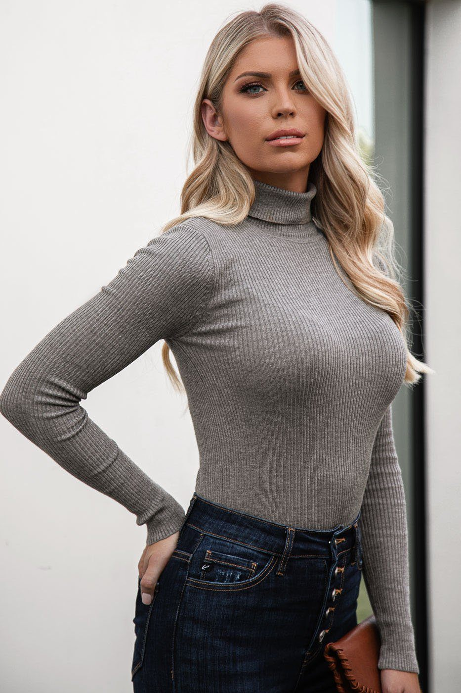 Charleston Heather Grey Turtleneck