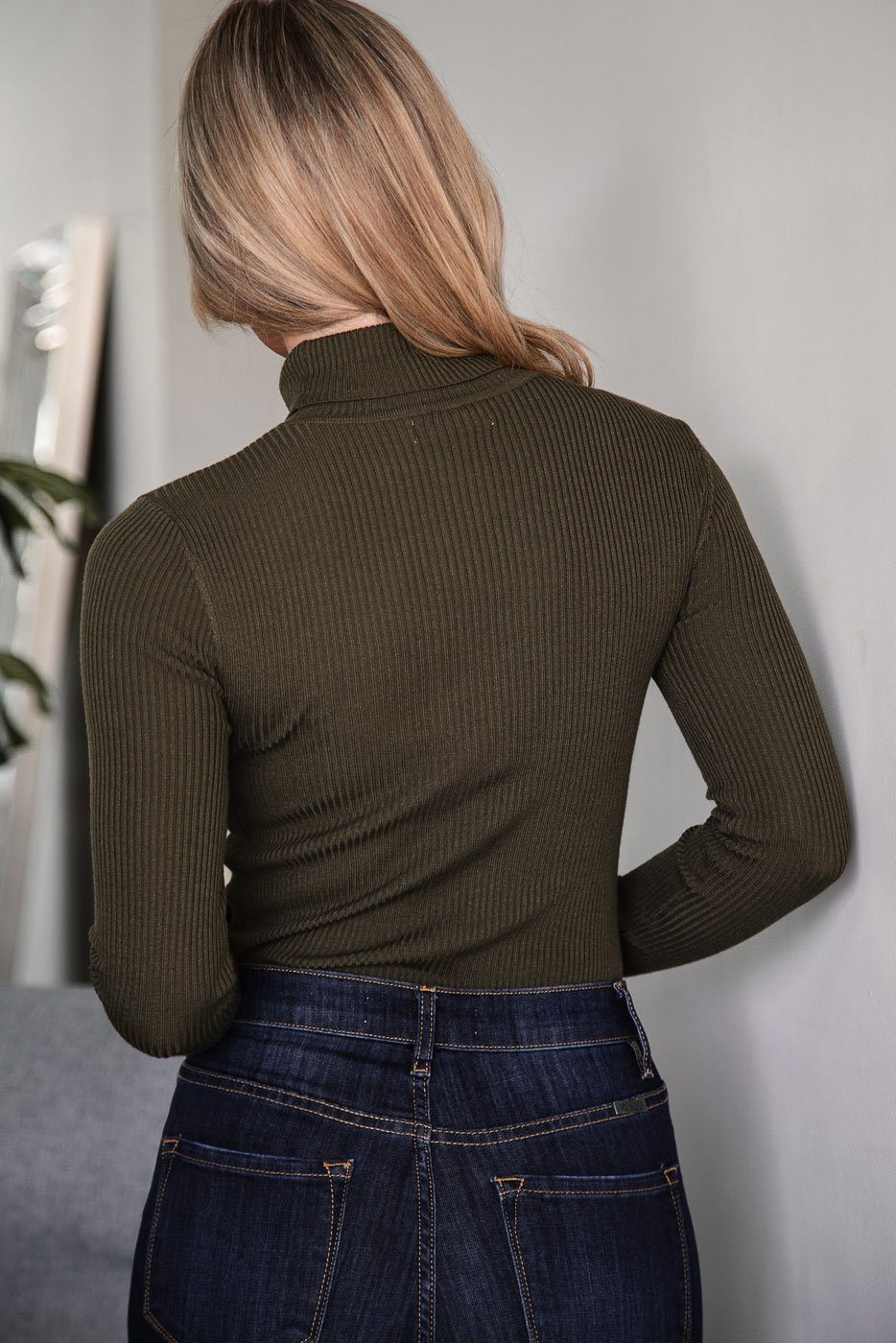 Olive Turtleneck