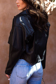 Charlotte Black Vegan Leather Jacket