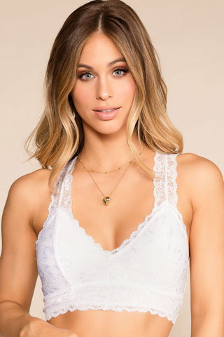 Let's Roll Bralette - Gray
