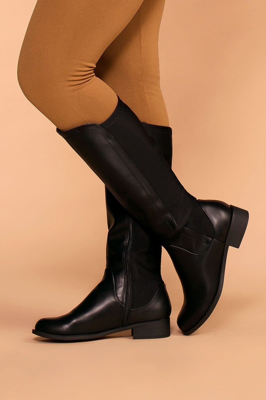 Priceless | Black | Riding Boots | Shoes