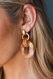 City Girl Caramel Earrings