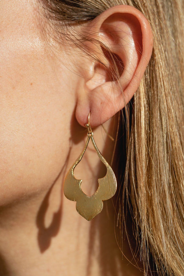Gold Cutout Drop Earrings