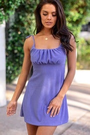 Claudia Periwinkle Dress
