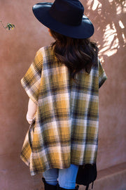 Yellow Plaid Short Sleeve Jacket