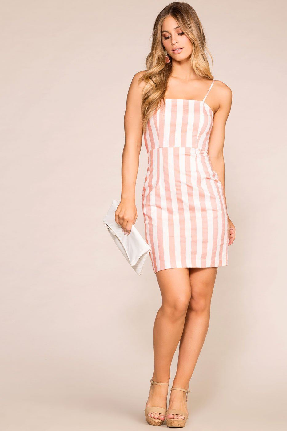 Priceless | Mauve | Striped Dress | Womens