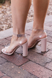 Clear View Acrylic Nude Heels