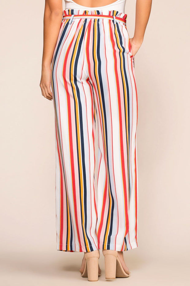 Striped Highwaisted Paperbag Pants