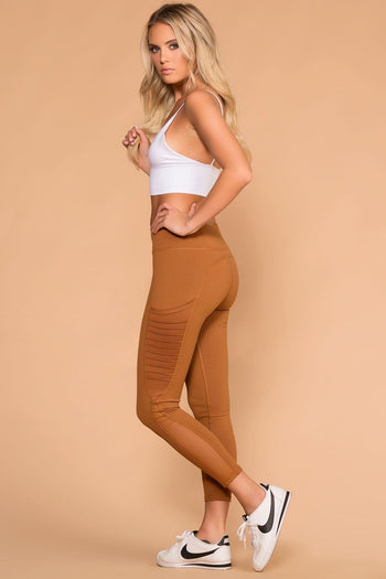 Camel High Waisted Workout Leggings