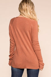 Priceless | Brick | Long Sleeve Top | Womens