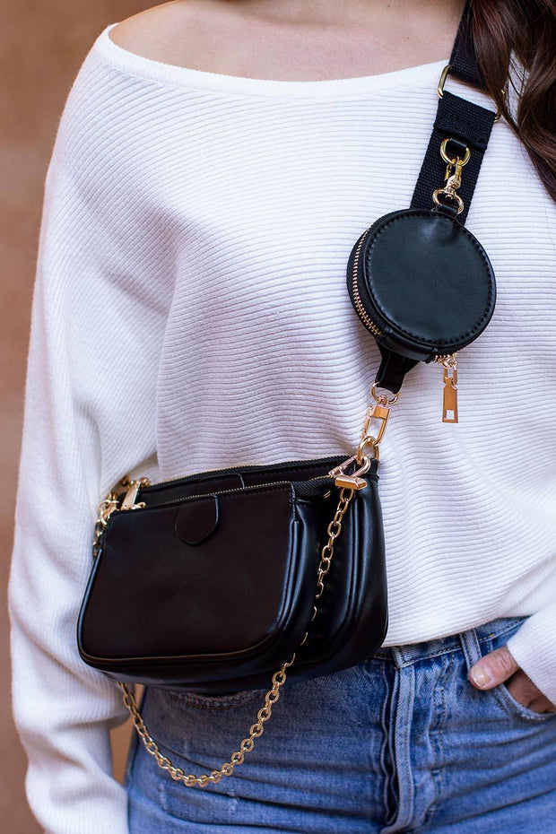 Connect the Dots Black Purse