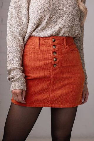 Jameson Tan Corduroy Skirt