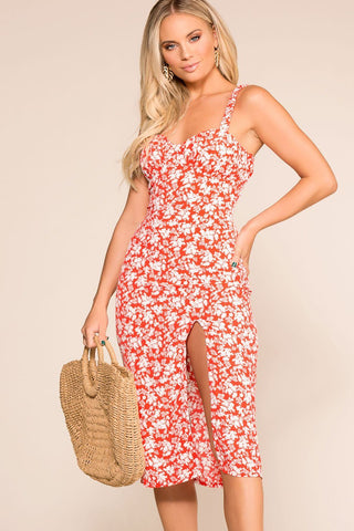 Capri Tropical Romper - White