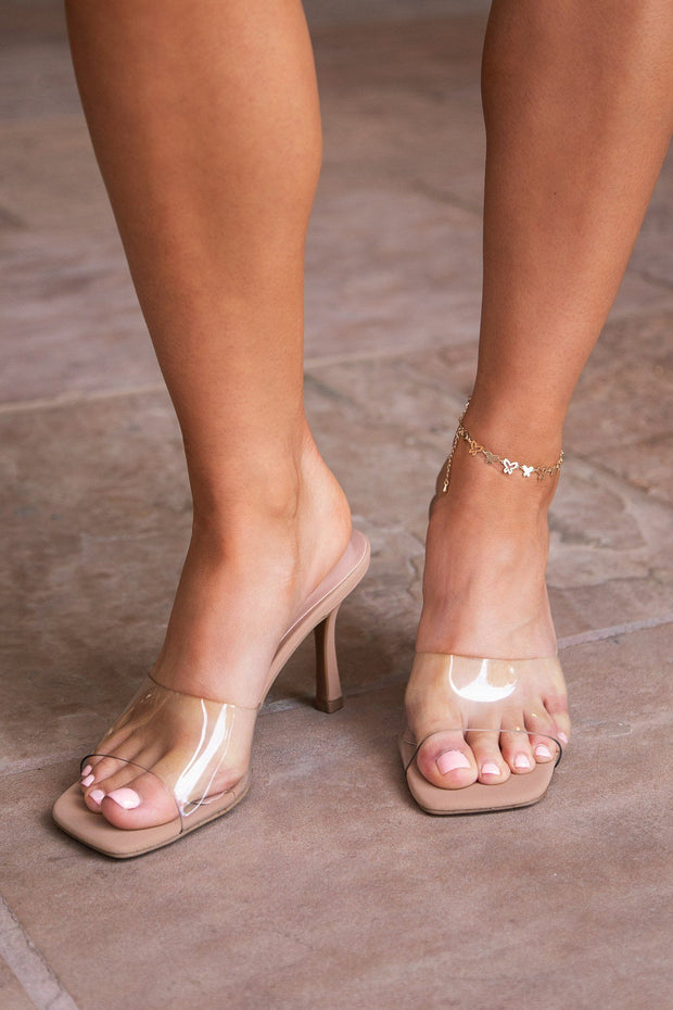 Clear Slide-On Heels