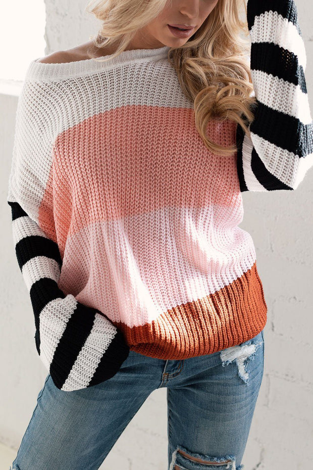 Blush Colorblock Knit Sweater