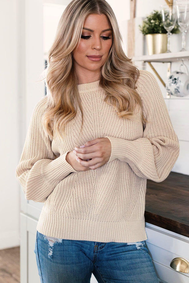Cozy Afternoon Ivory Knit Sweater