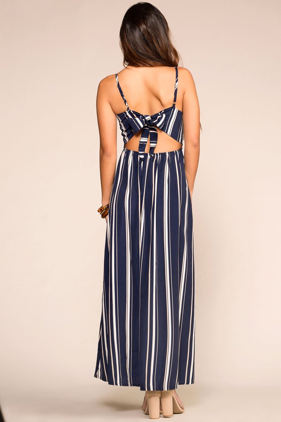 Priceless | Navy Striped | Maxi Dress | Womens