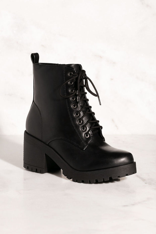 Day Trip Black Combat Booties